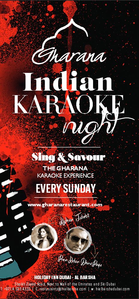 Karaoke Nights in dubai at Gharana